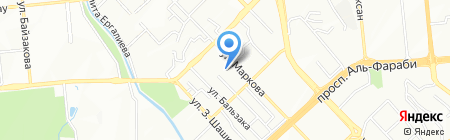 Седьмая верста на карте Алматы