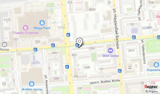 Швейный. Схема проезда в Алматы