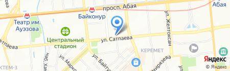 Калина продовольственный магазин на карте Алматы