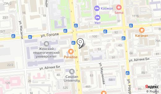 Gold De Luxe XXI. Схема проезда в Алматы