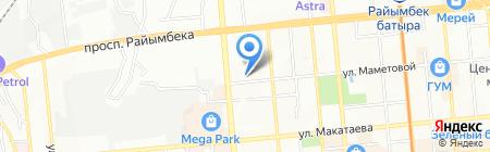 Радуга продуктовый магазин на карте Алматы