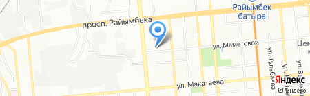 ТЕКС на карте Алматы