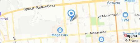 Барс Алма-Ата на карте Алматы