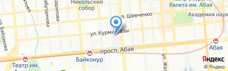 Республиканский научно-практический центр психиатрии на карте Алматы