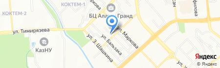 Майра на карте Алматы