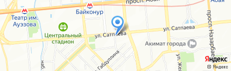 Нотариус Толыбаева А.Н. на карте Алматы