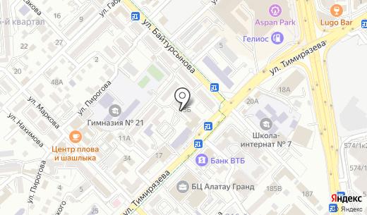 Общежитие. Схема проезда в Алматы