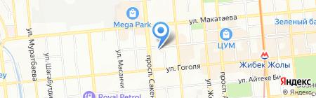 Детская городская поликлиника №1 на карте Алматы