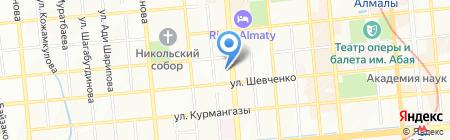 Буржуй на карте Алматы