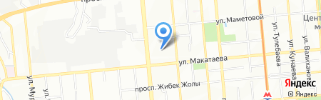V & A на карте Алматы