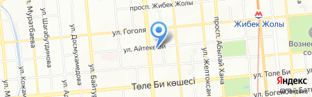 Достык на карте Алматы