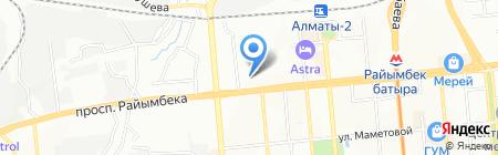 Ясмин НС на карте Алматы