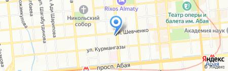 Казмикрокредит на карте Алматы