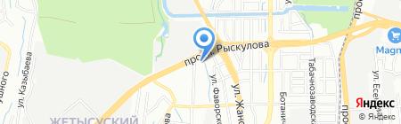 Идрисова М.А. на карте Алматы