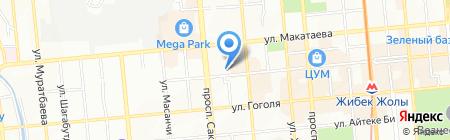 Жибек жолы на карте Алматы