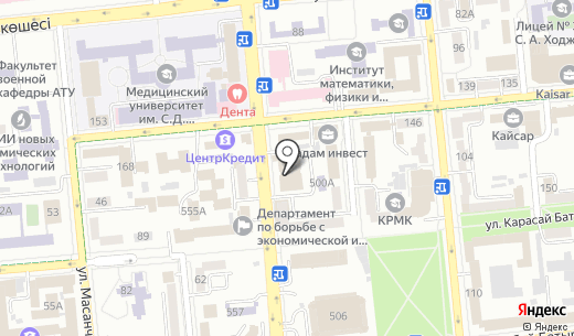 Sweet Kazakhstan. Схема проезда в Алматы