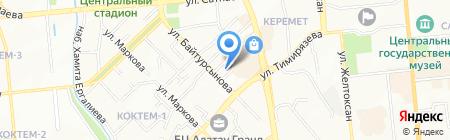 Жемчужина-1 на карте Алматы