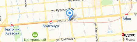 Поверочная лаборатория отдела средств измерения и поверки приборов ЦГМ на карте Алматы