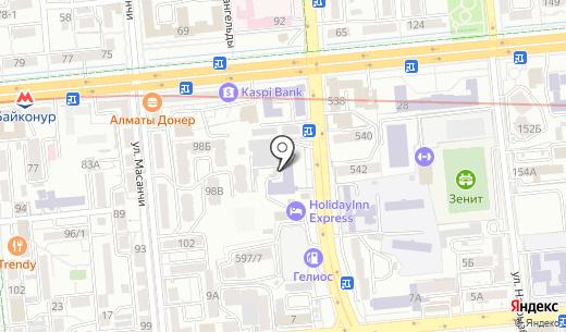 Современное образование. Схема проезда в Алматы