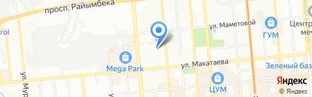 Первый класс на карте Алматы