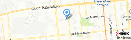 Нотариус Балгабаева К.Б. на карте Алматы