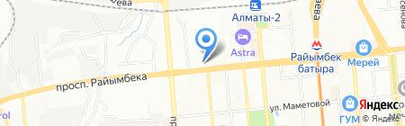 Саргон на карте Алматы