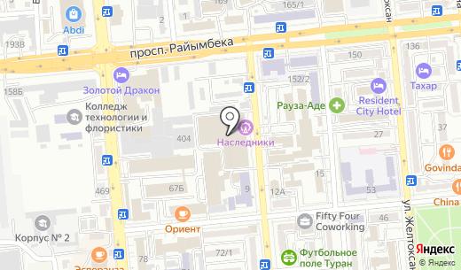 Иллюзион ATRIUM. Схема проезда в Алматы