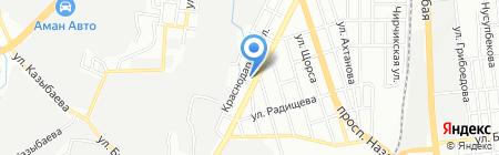Ак-су на карте Алматы
