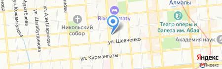 Алматы Коркем на карте Алматы