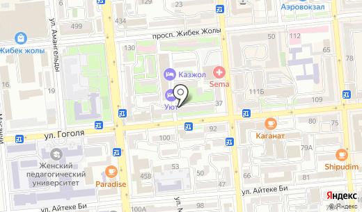 O`STIN. Схема проезда в Алматы