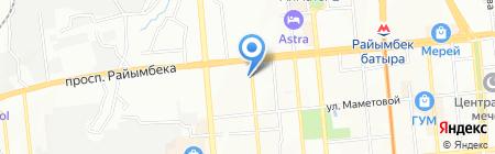 Алматы Тазалык на карте Алматы