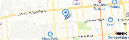 Алматинский колледж экономики и права на карте Алматы