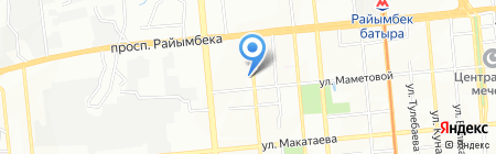Достижения Молодых на карте Алматы