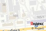 Схема проезда до компании Азия Паркет в Алматы