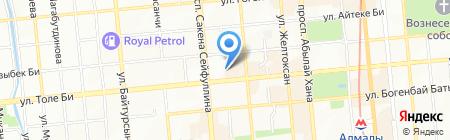 Delta Bank на карте Алматы