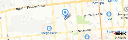 Адвокатская контора Умарова А.А. на карте Алматы