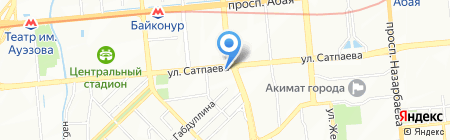 Институт архитектуры и строительства им. Т.К. Басенова на карте Алматы