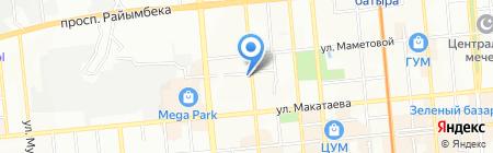 Un textil на карте Алматы