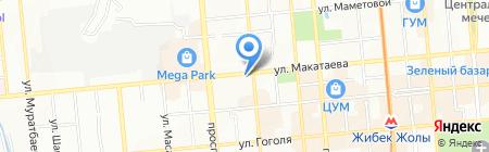 Аржан на карте Алматы
