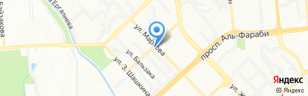Алатау жилой комплекс на карте Алматы