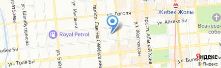 Ясли-сад №41 на карте Алматы