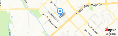 Тансари на карте Алматы