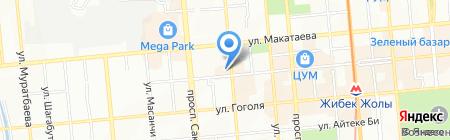 Бекбатыр на карте Алматы