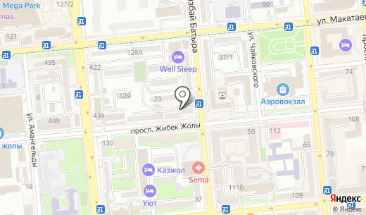 Бекбатыр. Схема проезда в Алматы