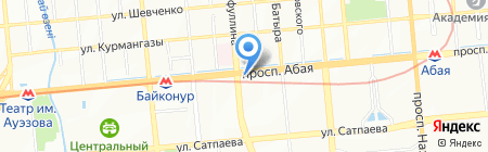 Нотариус Сартбаев Ж.Б. на карте Алматы