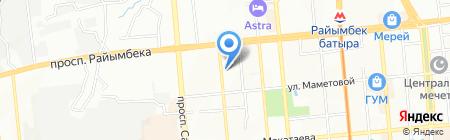 Коба на карте Алматы
