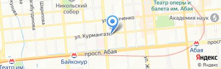 Кулагер на карте Алматы