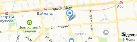 Бакнур на карте Алматы