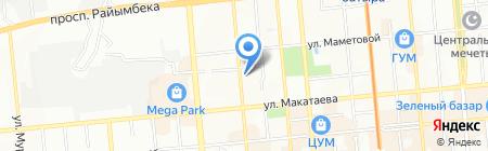 Дента-МАК на карте Алматы