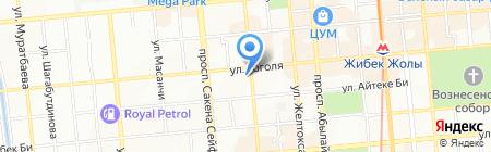Нотариус Ондасынова Д.Е. на карте Алматы